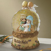 holy night musical snowglobe by precious moments