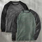 2 pack striped crew