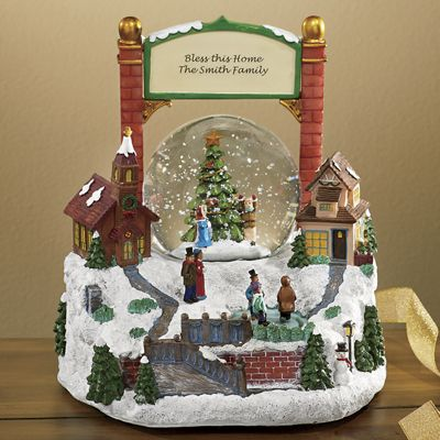 Personalized Town Center Snowglobe