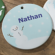 snowman personalized ornament