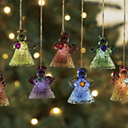 8 pc  lit angel ornament set