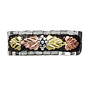 men s antiqued leaf band