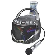 portable karaoke cdg player with bluetooth led lights by karaoke usa