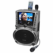 dvd cdg mp3g karaoke system with 7 screen record function by karaoke usa