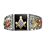 men s masonic emblem ring