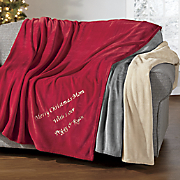 large personalized throw
