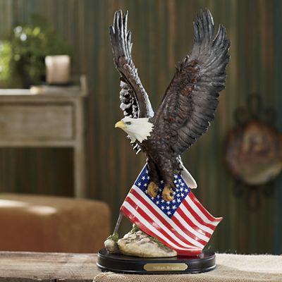Personalized Eagle Americana Statue