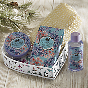 lavender heart bath set