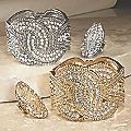 Crystal/Vintage Hinged Bangle