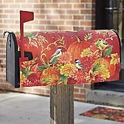 pumpkins   birds mailbox cover