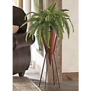 faux fern in sleek display pot