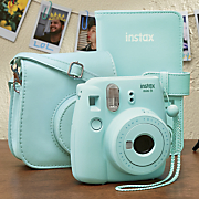 fuji instax mini 9 camera  album and case