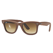 women s leather wayfarer sunglasses by ray ban