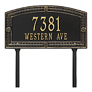 personalized hamilton arch lawn address plaque