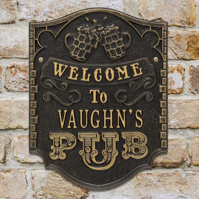 Personalized Pub Welcome Plaque