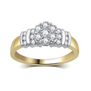 10k gold diamond cluster ring 4