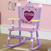 personalized princess rocker