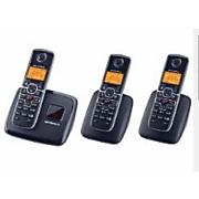 3 handset cordless phone system by motorola