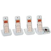 4 handset cordless phone system by motorola
