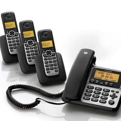 Corded/Cordless Phone System by Motorola<sup class='mark'>&reg;</sup>
