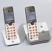 2 handset cordless phone system by at t 33