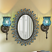 captured glass wall sconce 46