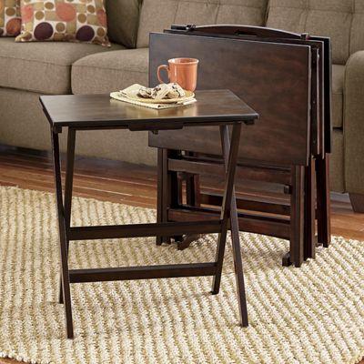5-Piece TV Tray Table Set