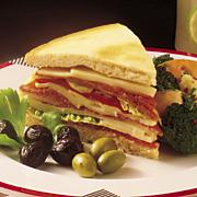 Wisconsin Butterkase Focaccia Antipasto Sandwiches