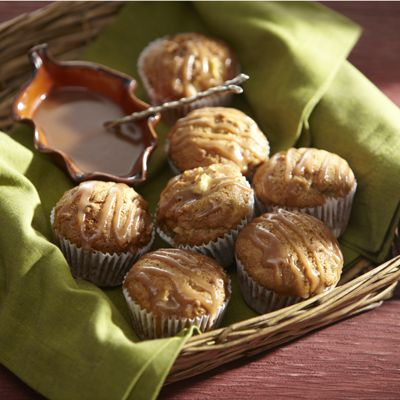 Apple Muffins with Brown Sugar Sauce