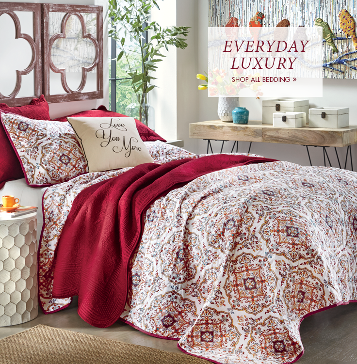 Everyday Luxury  Explore new patterns, fresh styles and layering looks.  Shop Bedding