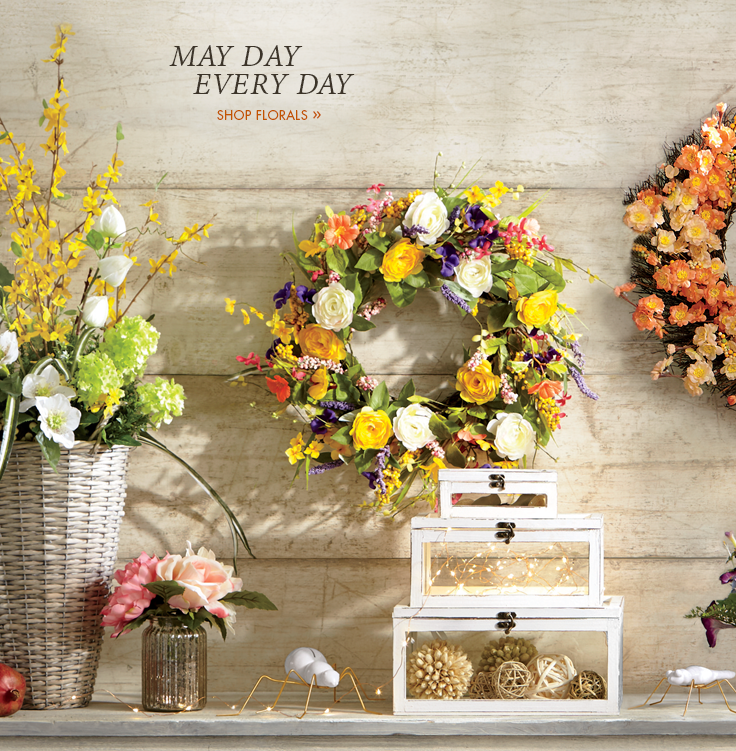 May Day Every Day  Spring's blooming colors. Shop Florals