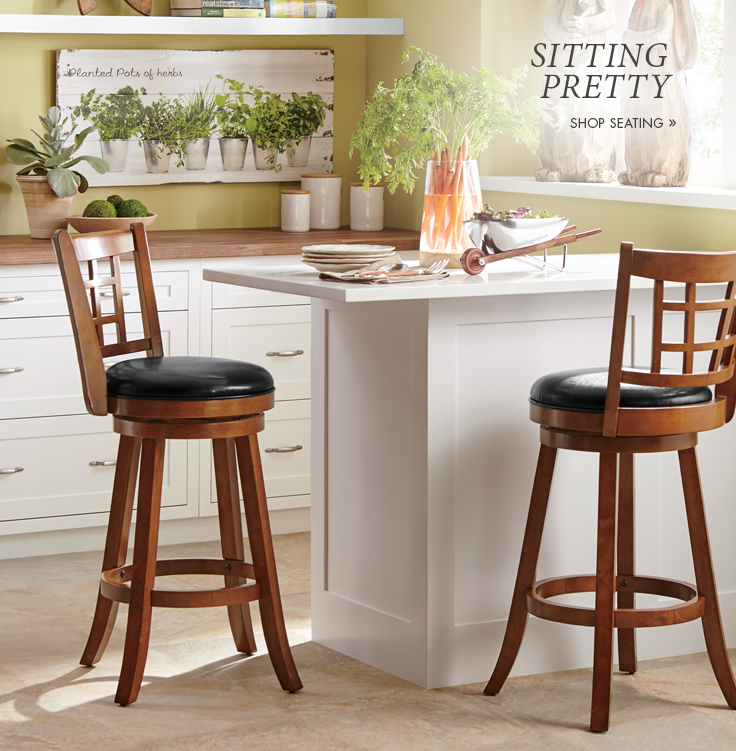 Sitting Pretty  Stools and chairs with form, and function. Shop Seating
