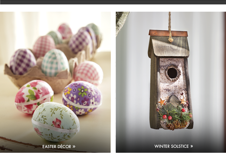 Easter Decor - Winter Solstice  Enjoy the season's nature and calm.  Shop Winter