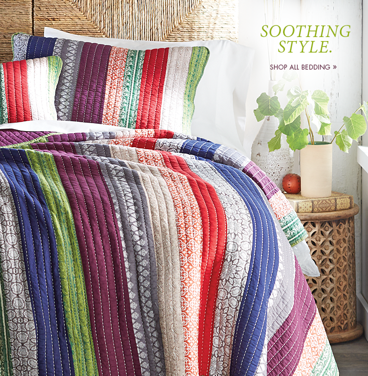 Soothing Style. Shop All Bedding.