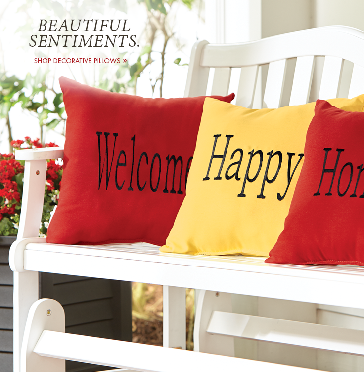 Beautiful Sentiments. Shop Decorative Pillows.