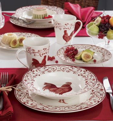 Red Rooster Dinnerware