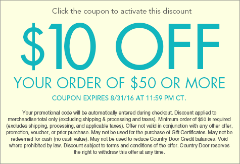 10% off entire order of $50 or more