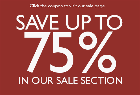 Save up to 75% in our sale section!