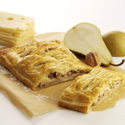 Cardamom-Scented Pear Tart with Wisconsin Emmentaler Swiss Cheese