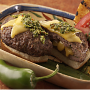 Chimichurri Burgers with Wisconsin Gouda Cheese