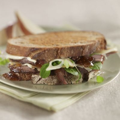 Wisconsin Town Hall Emmentaler And Confit Duck Sandwiches