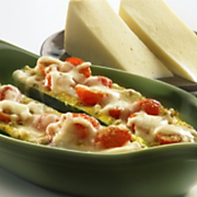Wisconsin Fontina Stuffed Zucchini