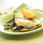 Wisconsin Gouda, Asparagus And Mushroom Omelet