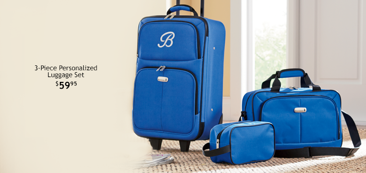 3-Piece Personalized Luggage Set