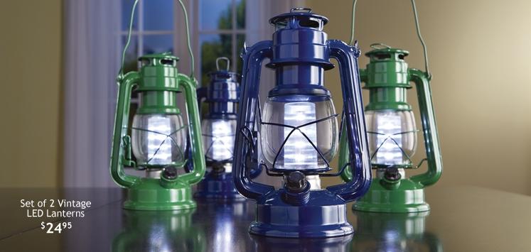 Set of 2 Vintage LED Lanterns