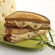 Hot Turkey Dijon Sandwiches with Wisconsin Emmentaler Swiss Cheese
