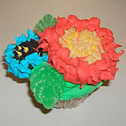 Mother's Day Flower Cupcake