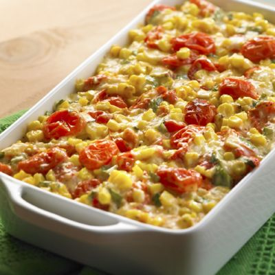 Lemony Tomato Corn Bake with Wisconsin Havarti