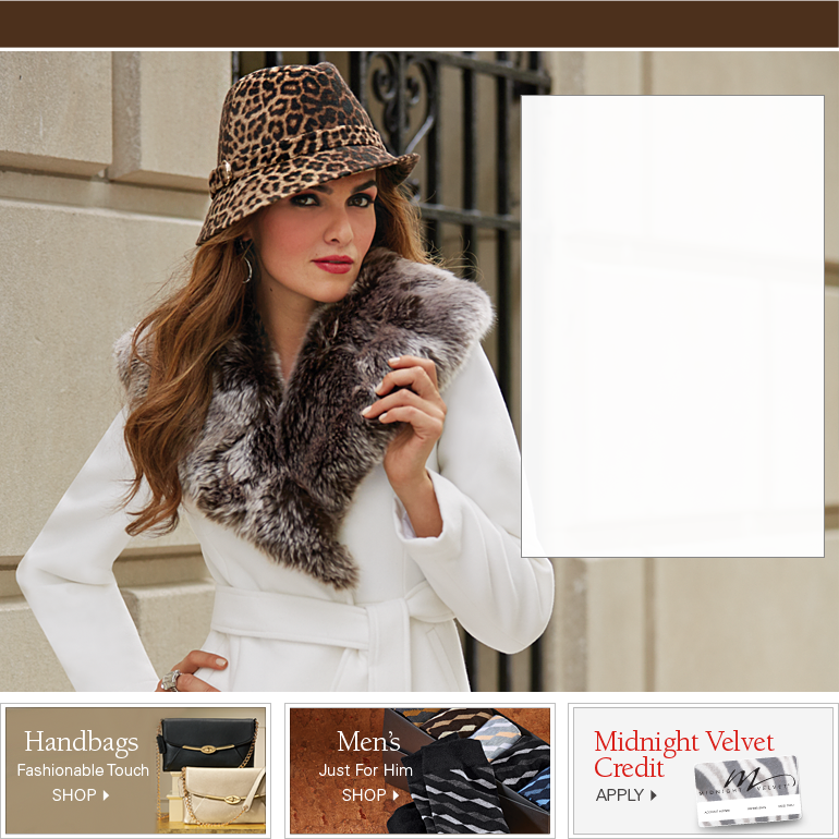 Midnight Velvet is a catalog order business that supplies unique merchandise including apparel and accessories for men and women, house dcor items, beauty products and jewelry.
