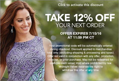 Midnightvelvet.com coupon code